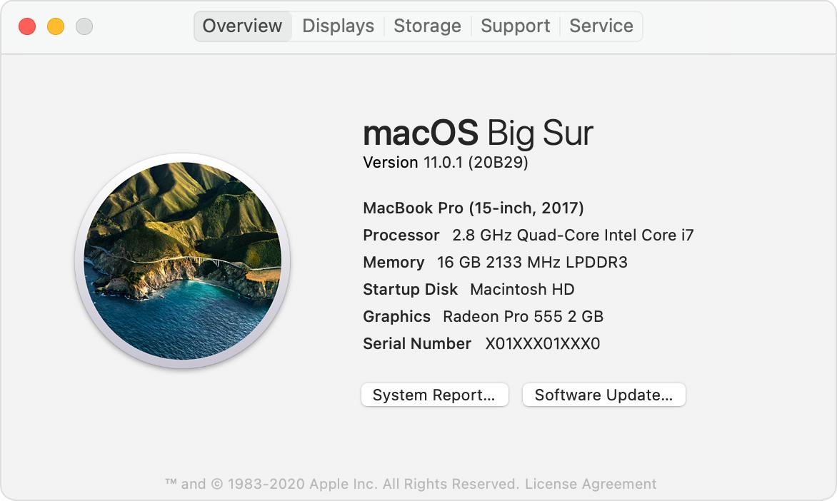 Mac OS Version